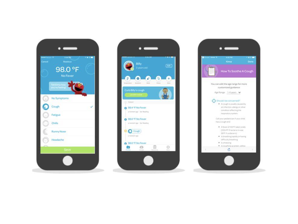 Smart Thermometer & Health Tracker Simple App Design