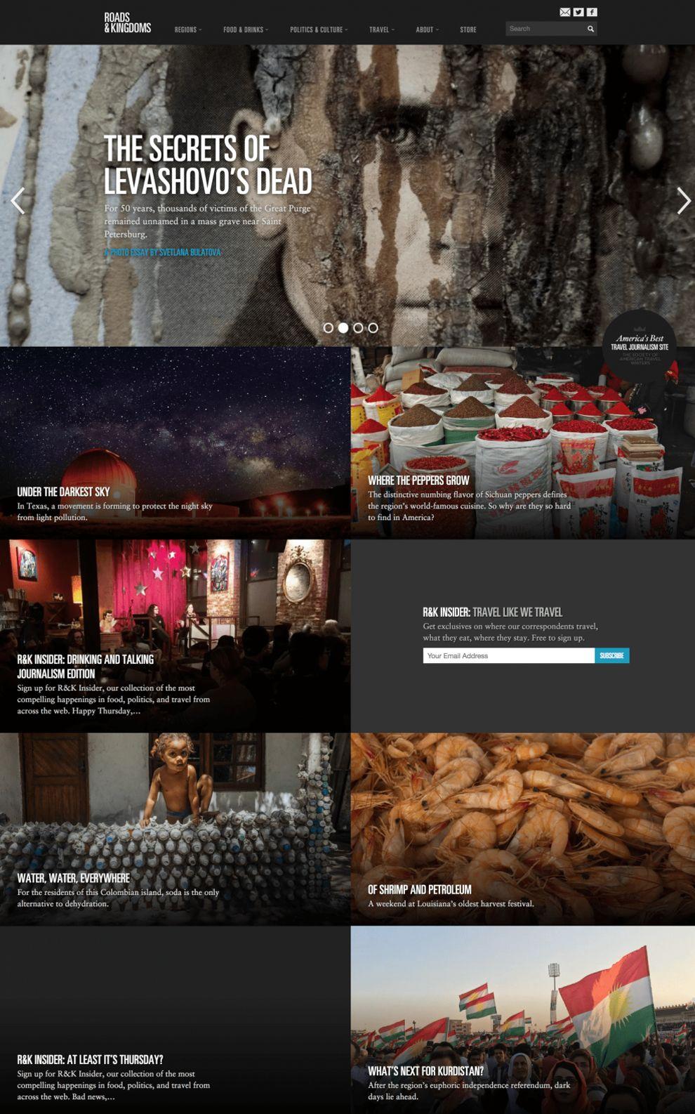 Roads & Kingdoms Professional Homepage
