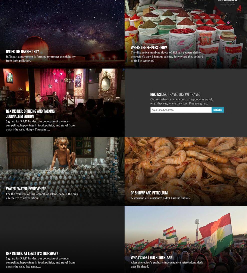 Roads & Kingdoms Professional Website Design