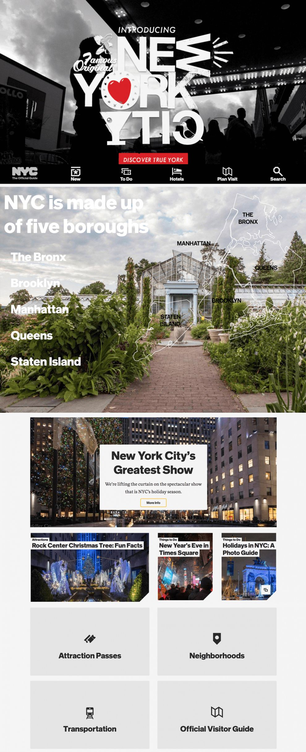 NYC The Official Guide Great Homepage