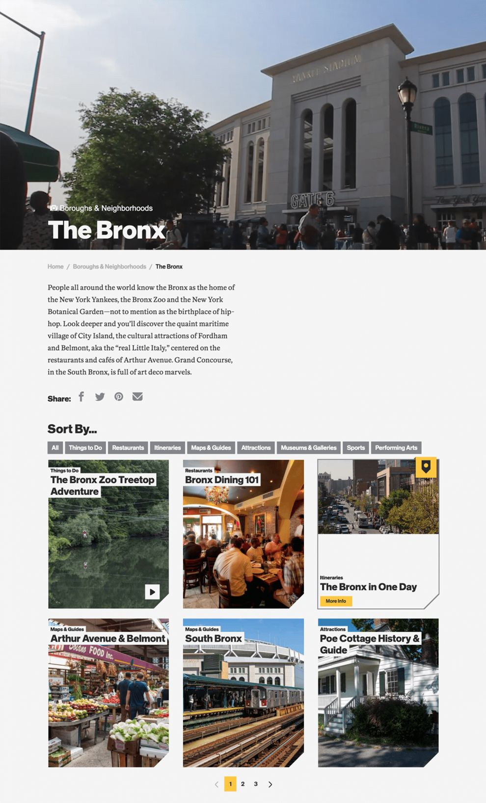 NYC The Official Guide Great Website Design