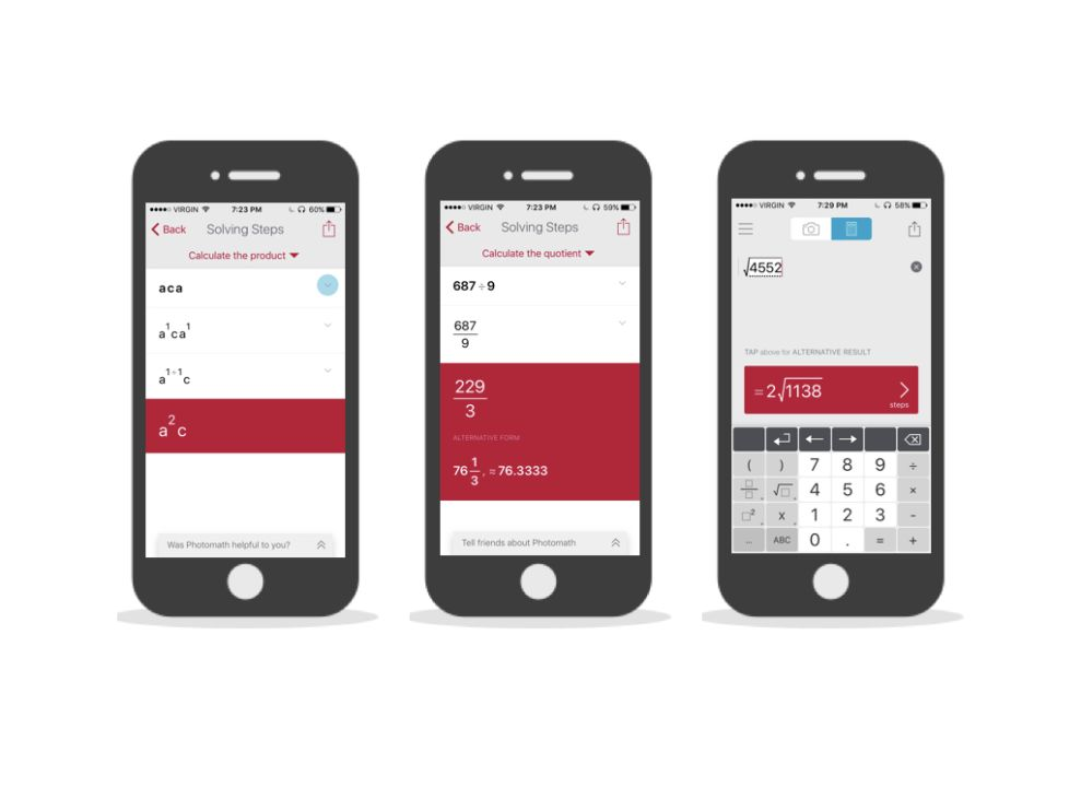 Photomath Flat App Design