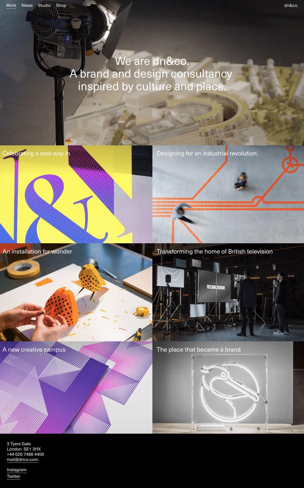 DN&Co Minimal Homepage