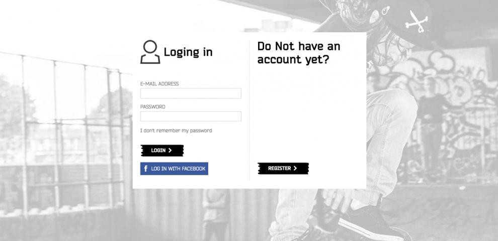 Cropp Clean Login Page