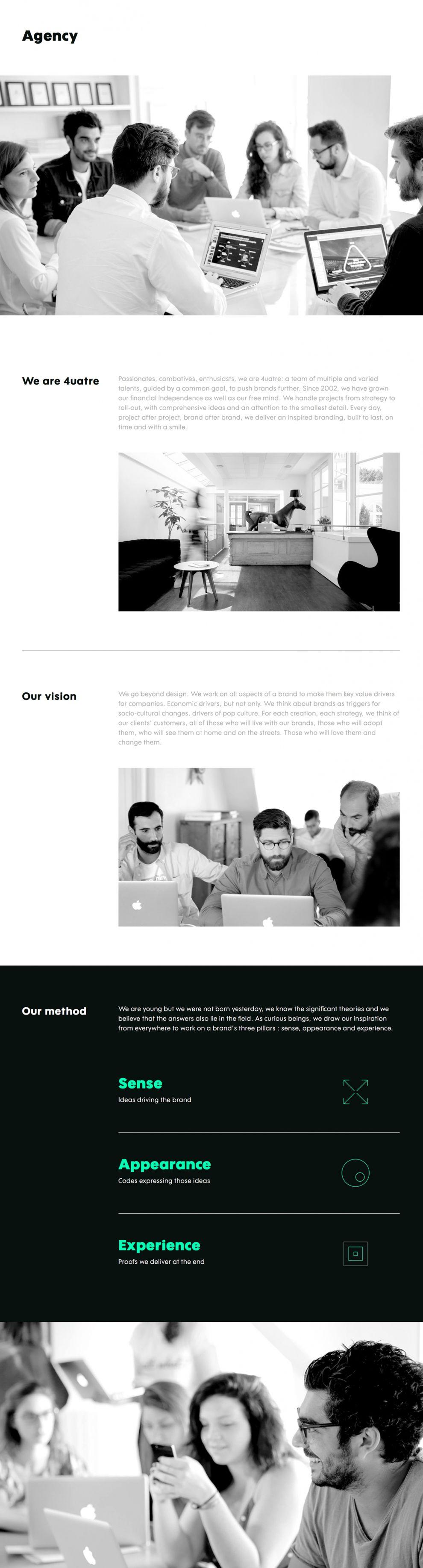 4uatre Elegant Website Design