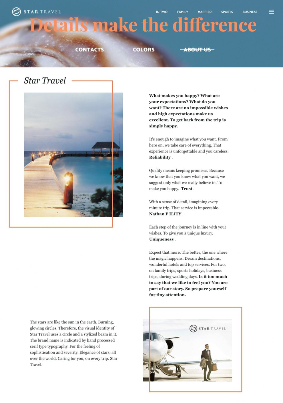 Star Travel Great About Page