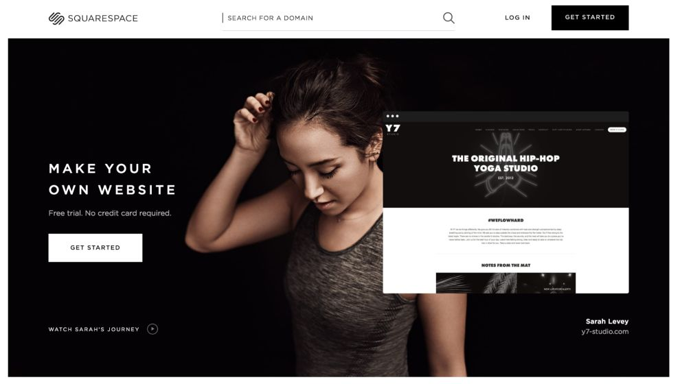 Squarespace Exciting Homepage