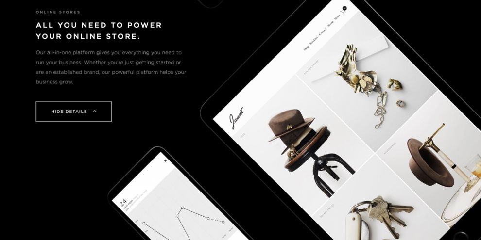 Squarespace Store Page