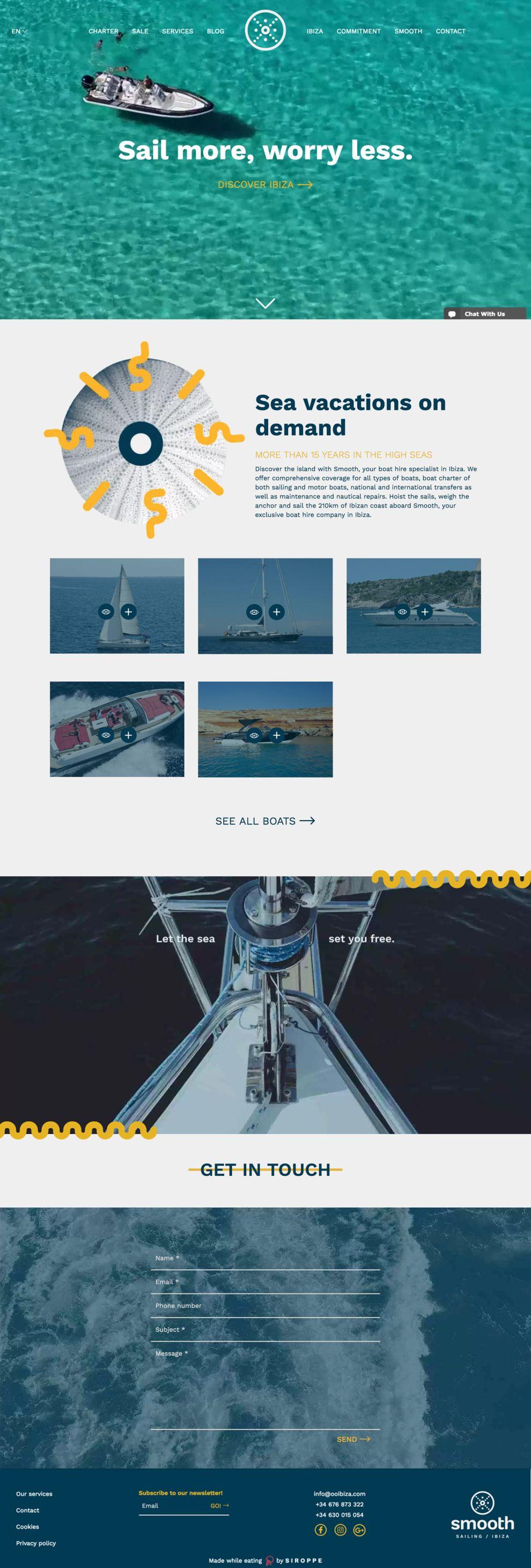 Smooth Sailing Ibiza Beautiful Homepage