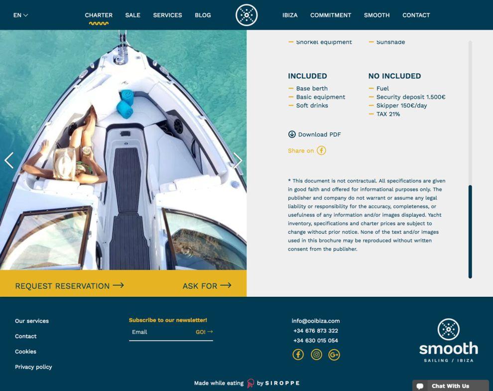 Smooth Sailing Ibiza Beautiful Checkout Page