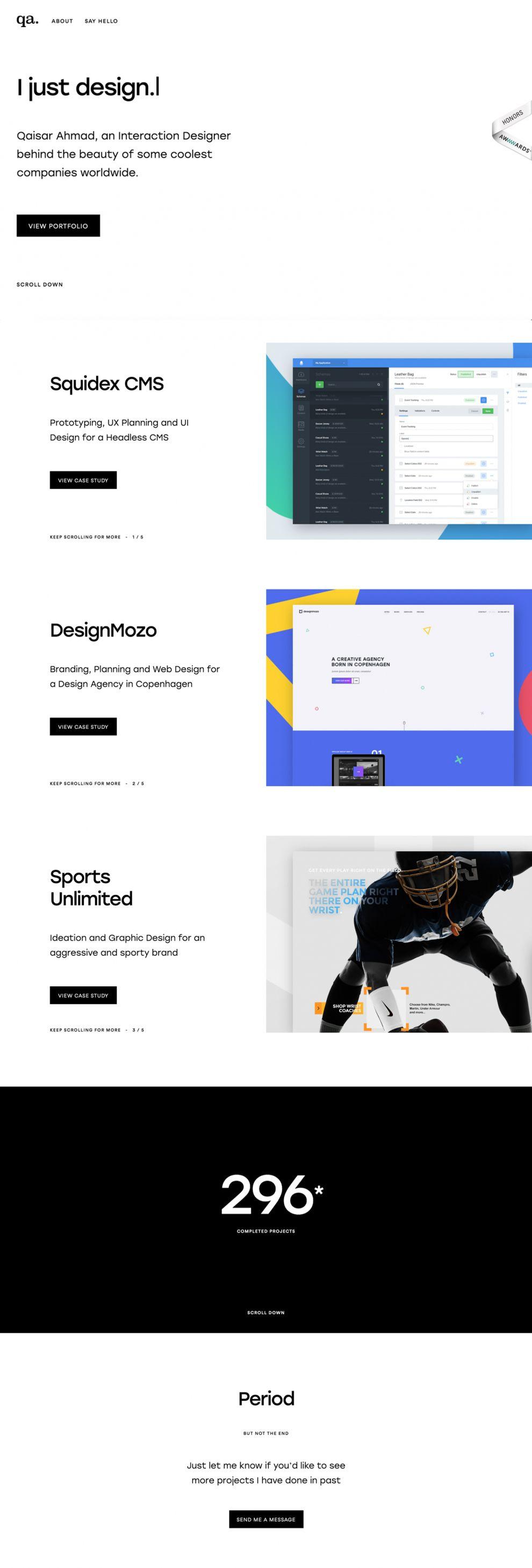 Qaisar Design Amazing Homepage