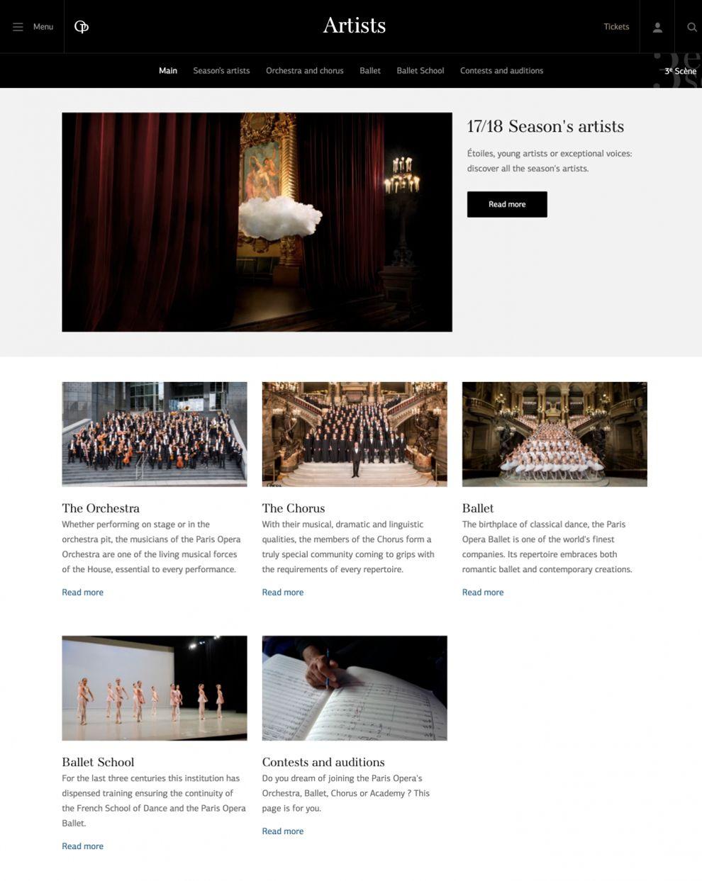 Opera National de Paris Great Website Design