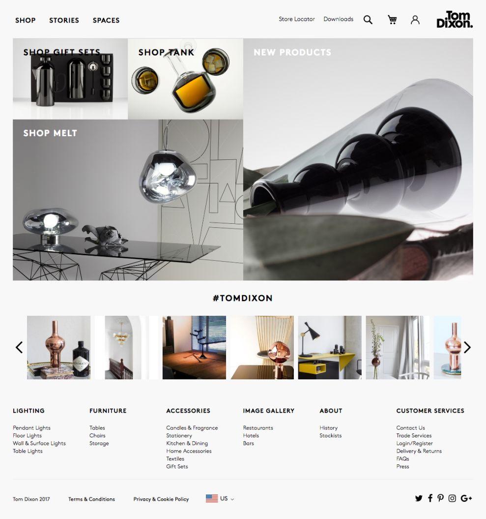 Tom Dixon Great Homepage