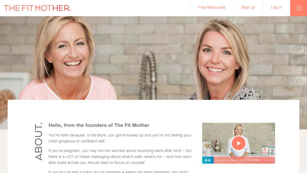The Fit Mother Great Website Design