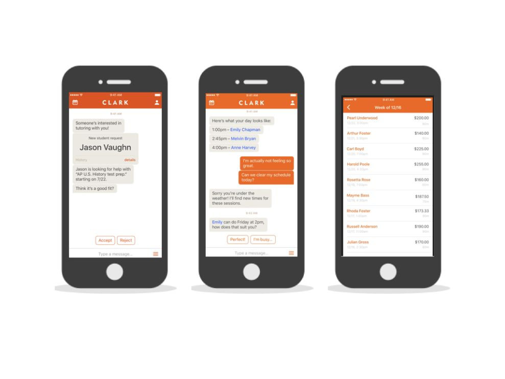 Clark Minimalist App Design
