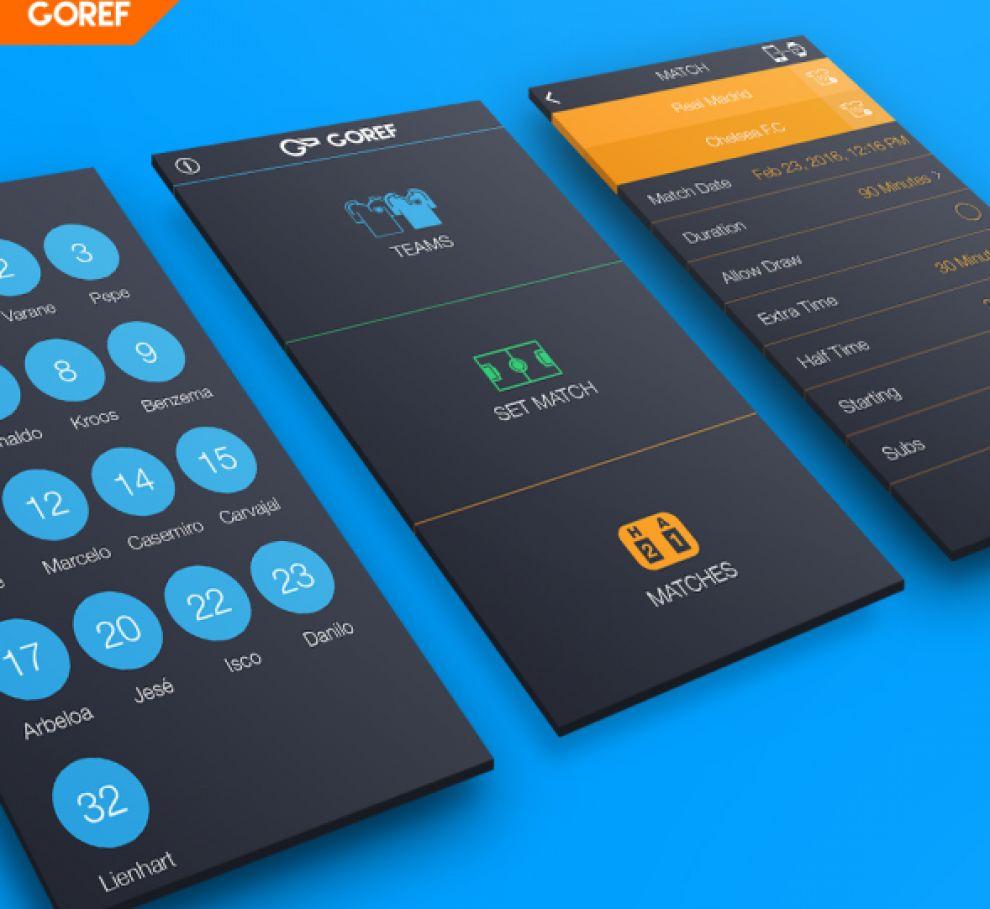 Goref Dark App Design