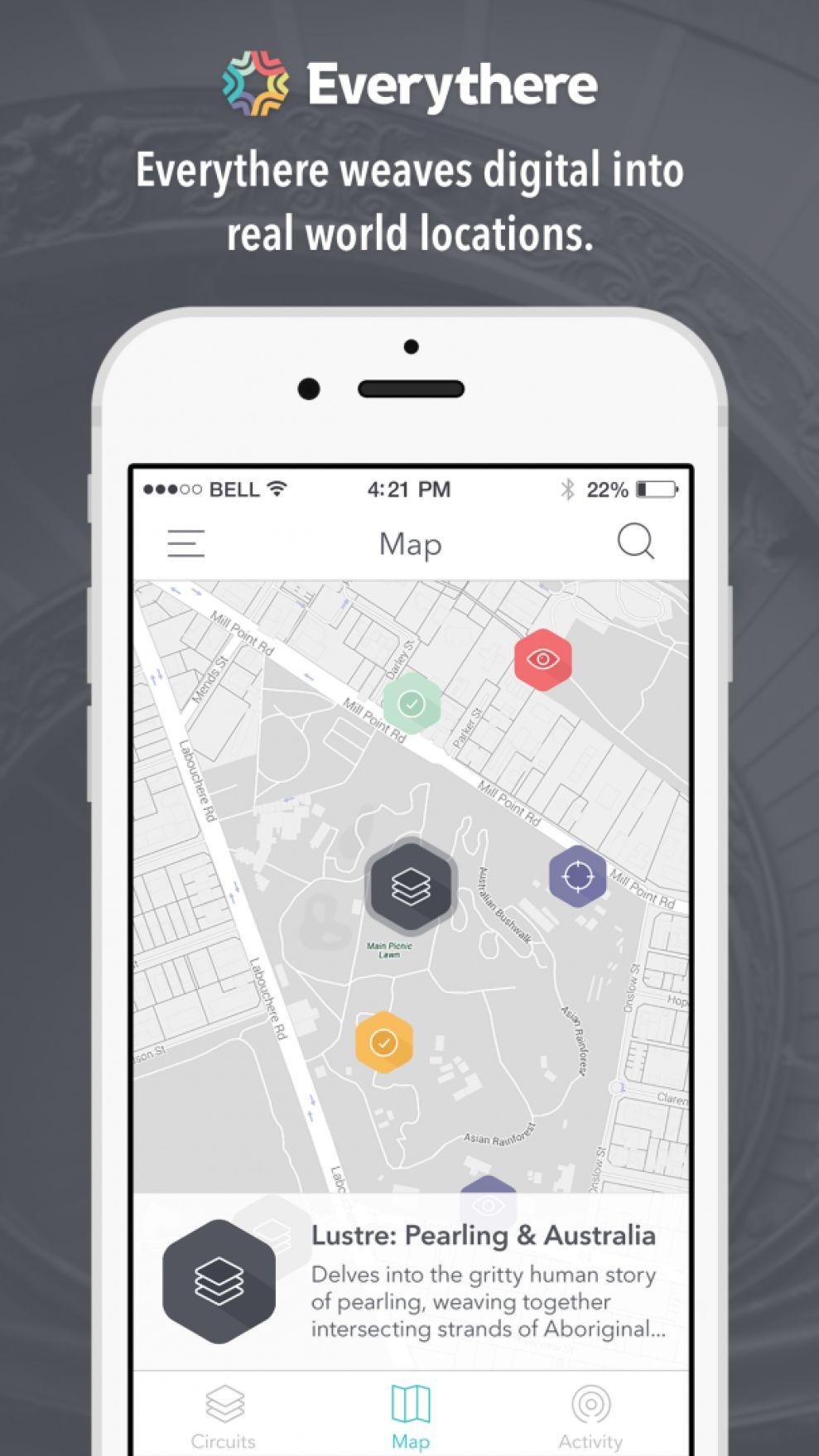 Everythere Top App Design