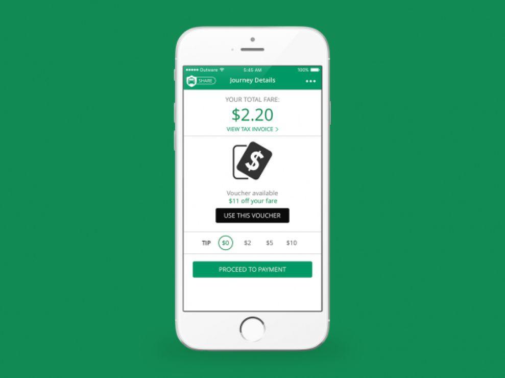 CabFare Minimal App Design