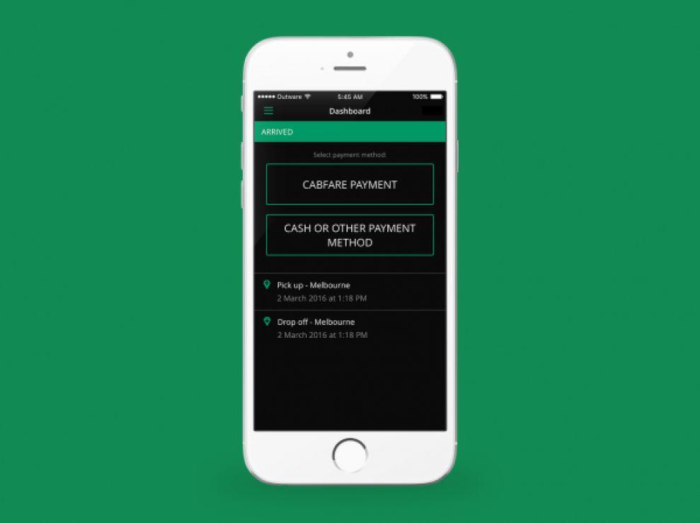 CabFare Simple App Design