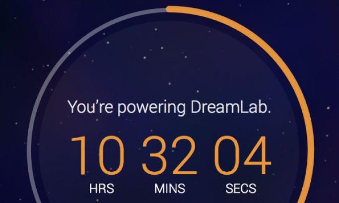 DreamLab Dark App Design
