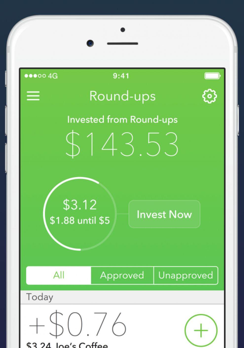 Acorns Clean App Design