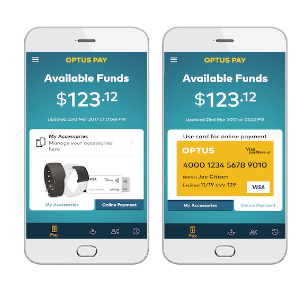 Optus Pay Modern App Design