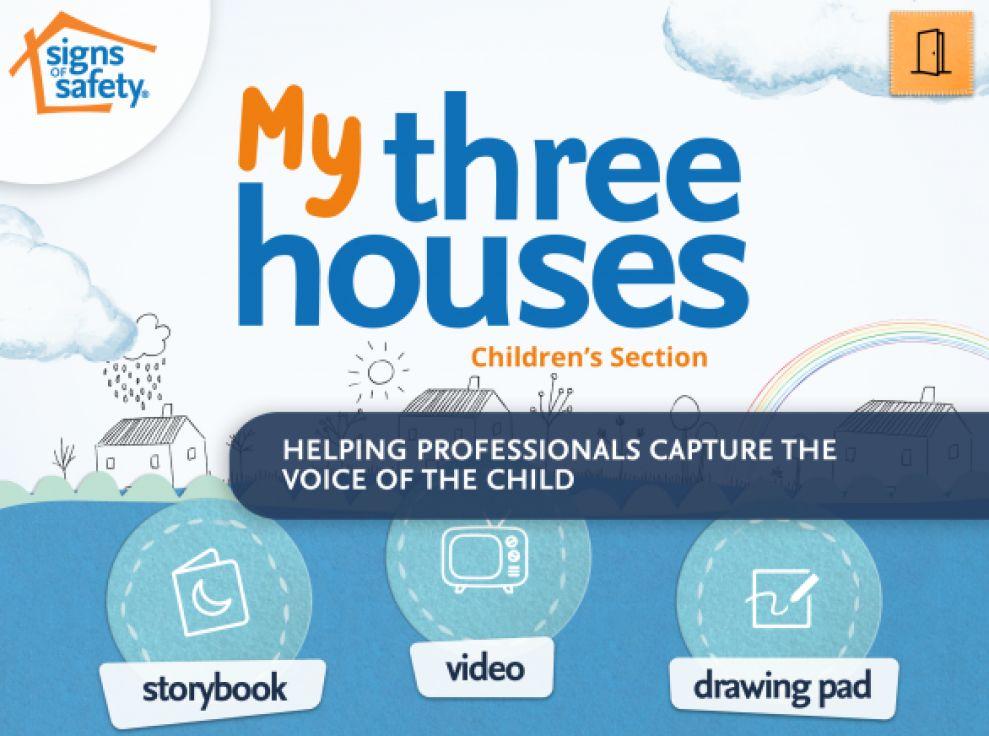 My Three Houses Playful App Design