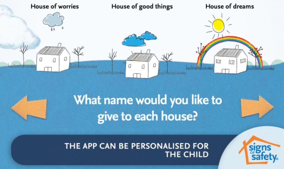 My Three Houses App Design
