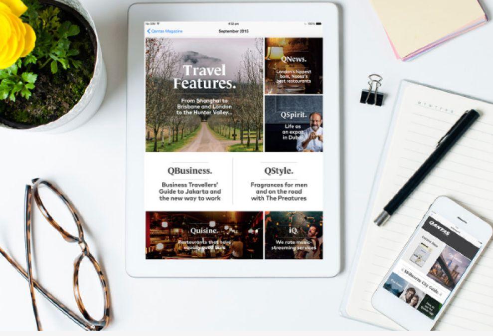 Qantas Magazine Intuitive App Design