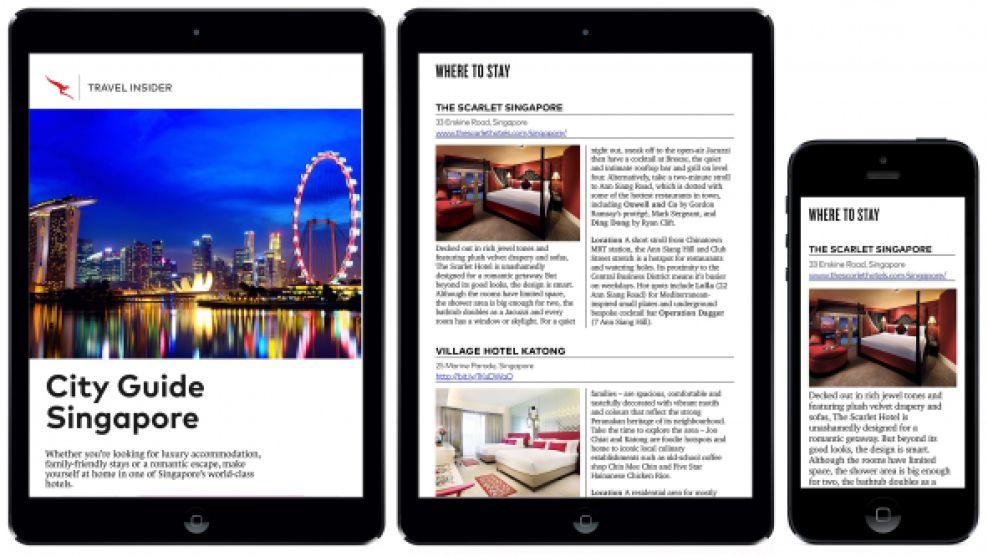 Qantas Magazine Clean App Design