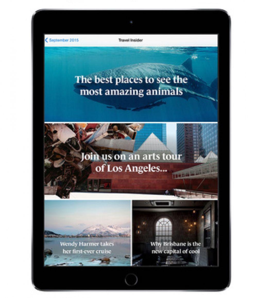 Qantas Magazine Elegant App Design