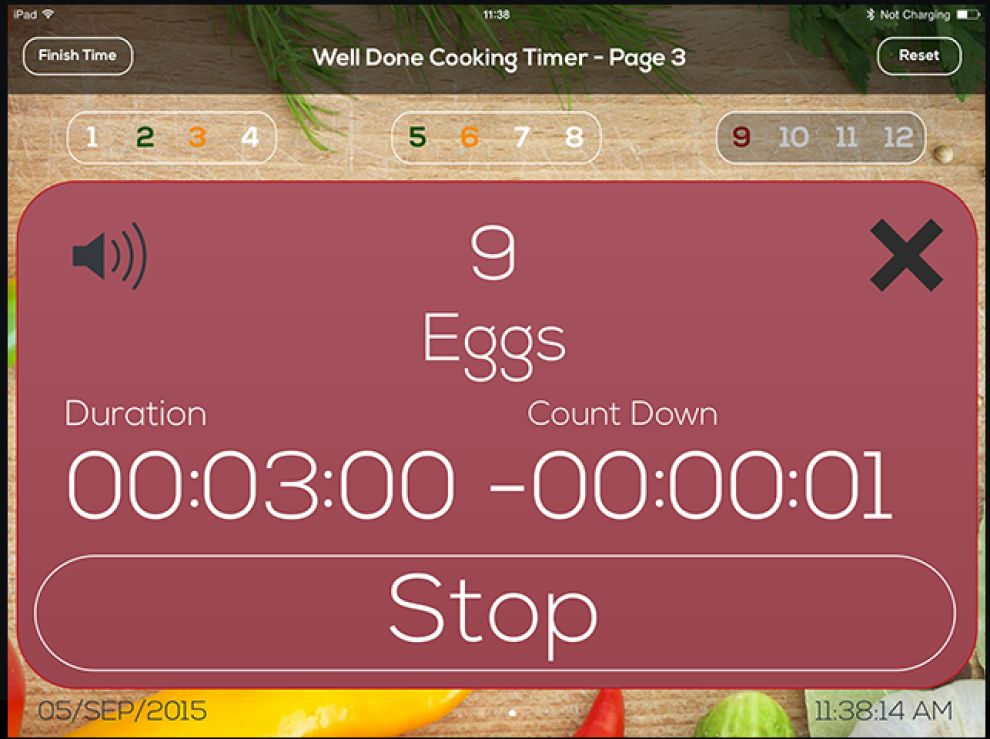 Well Done Cooking Timer Minimalist App Design