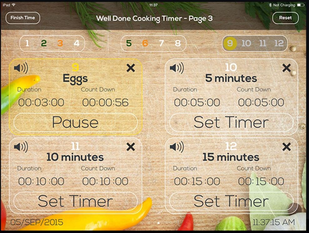 Well Done Cooking Timer User Friendly App Design