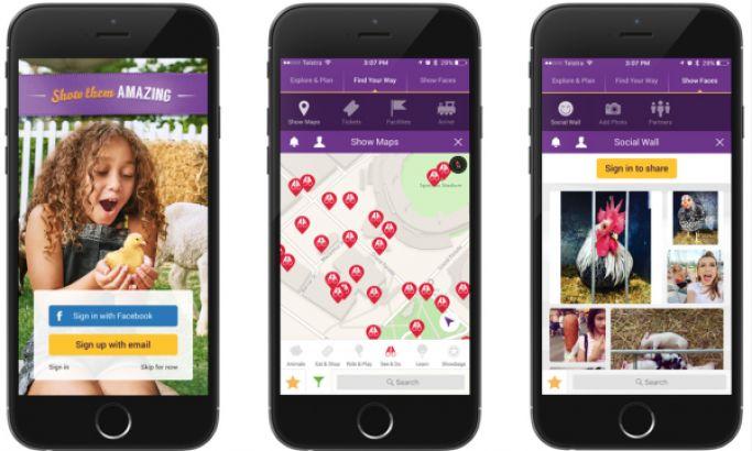 Sydney Royal Easter Show Colorful App Design