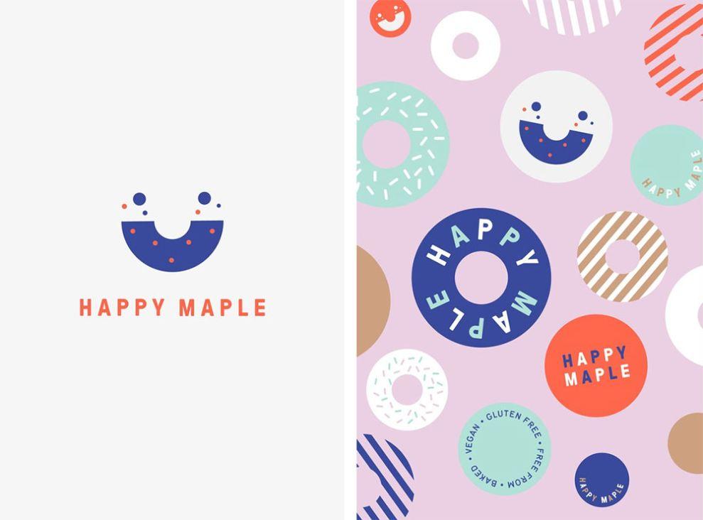 Happy Maple Clever Logo Design
