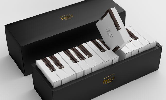 MARAIS Piano Cake Creative Package Design