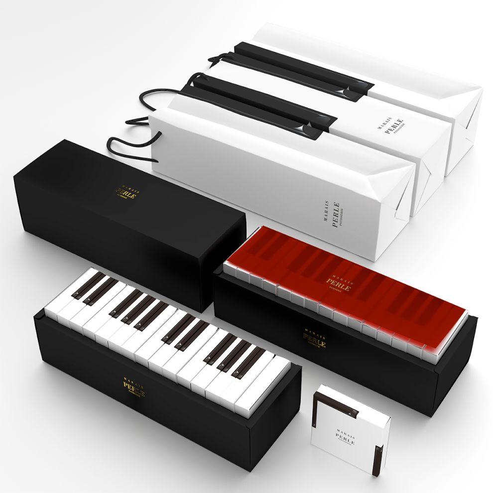 MARAIS Piano Cake Package Design