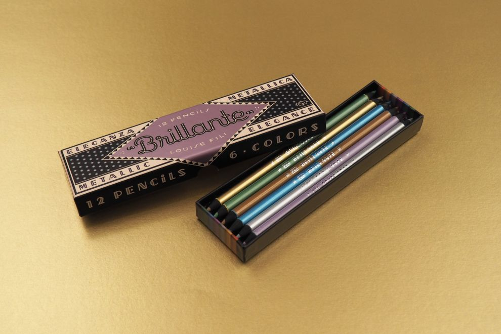 Brillante Pencils Retro Package Design