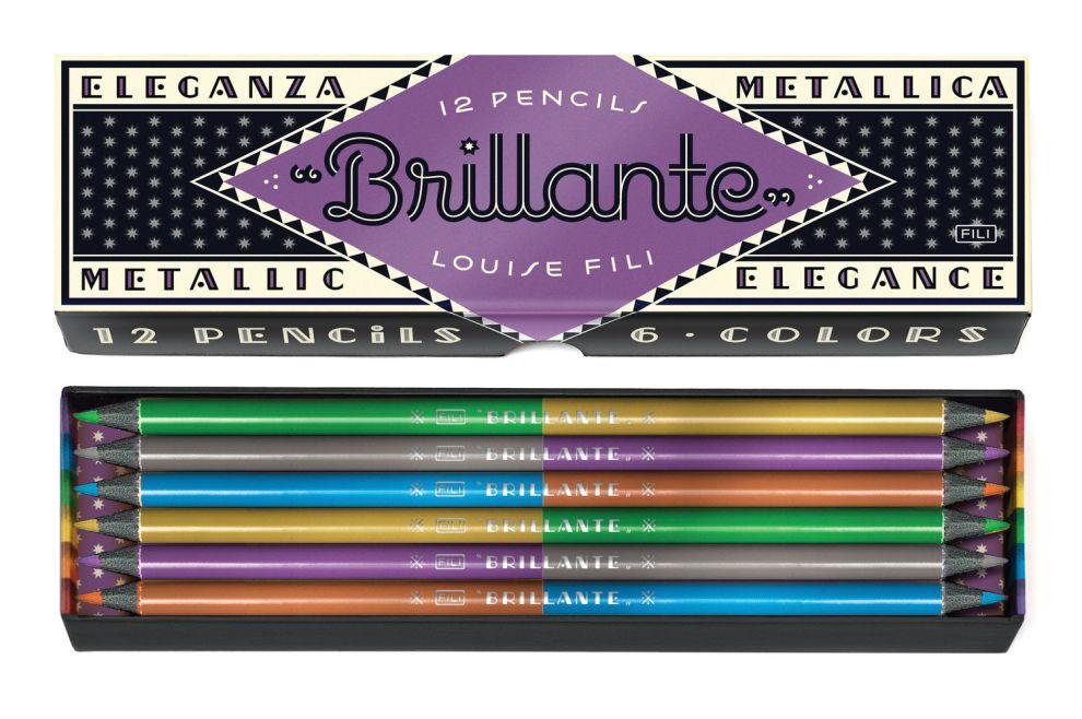 Brillante Pencils Package Design