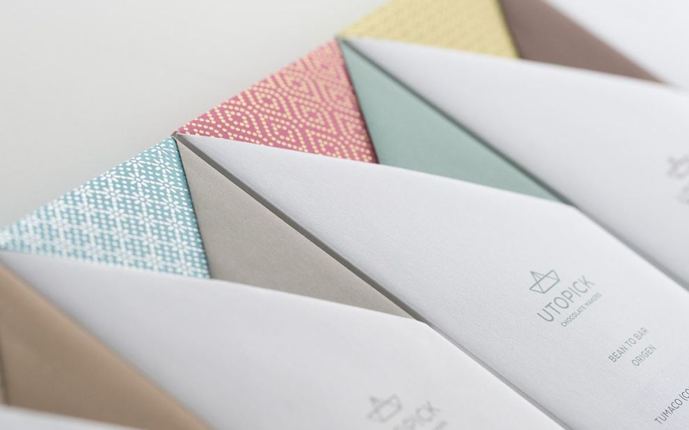 Utopick Chocolates Minimalist Package Design