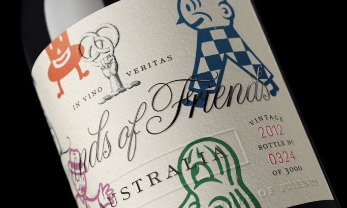 Friends of Friends Wine Awesome Package Design