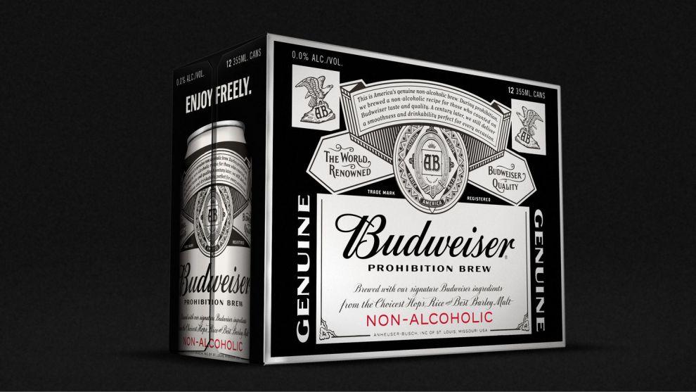 Budweiser Prohibition Brew Dark Package Design