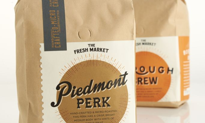 The Fresh Market Artisan Coffee Great Package Design