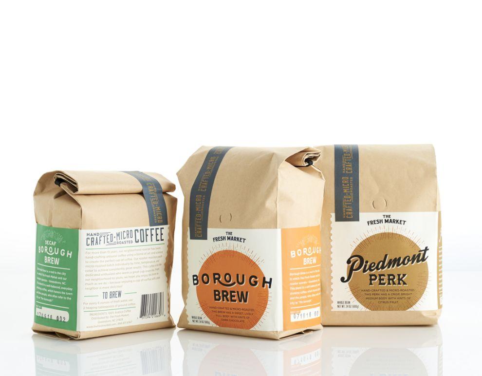 The Fresh Market Artisan Coffee Retro Package Design