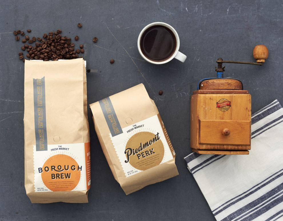 The Fresh Market Artisan Coffee Package Design