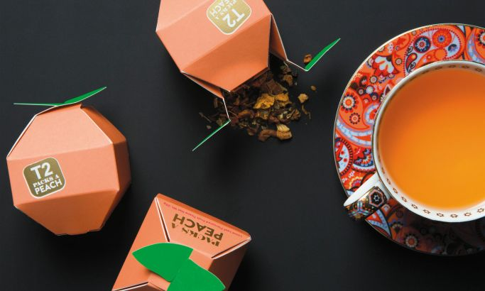 T2 Tea Mini Fruits Playful Package Design