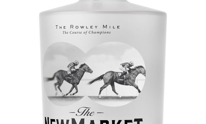 Newmarket Gin Clean Package Design