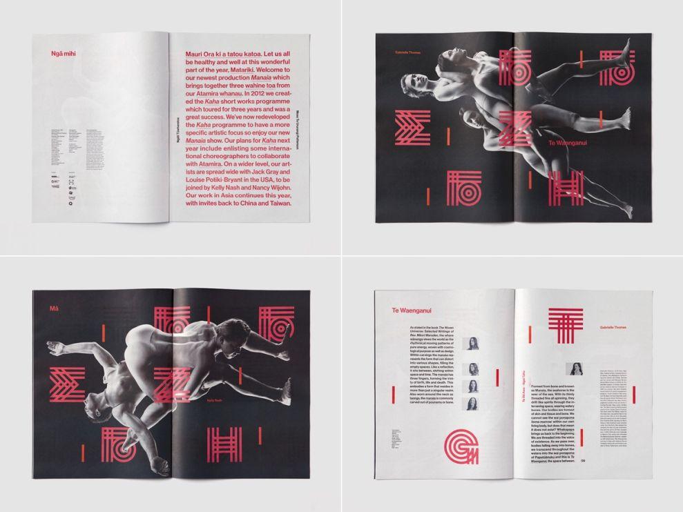 Atamira Dance Company Elegant Print Design
