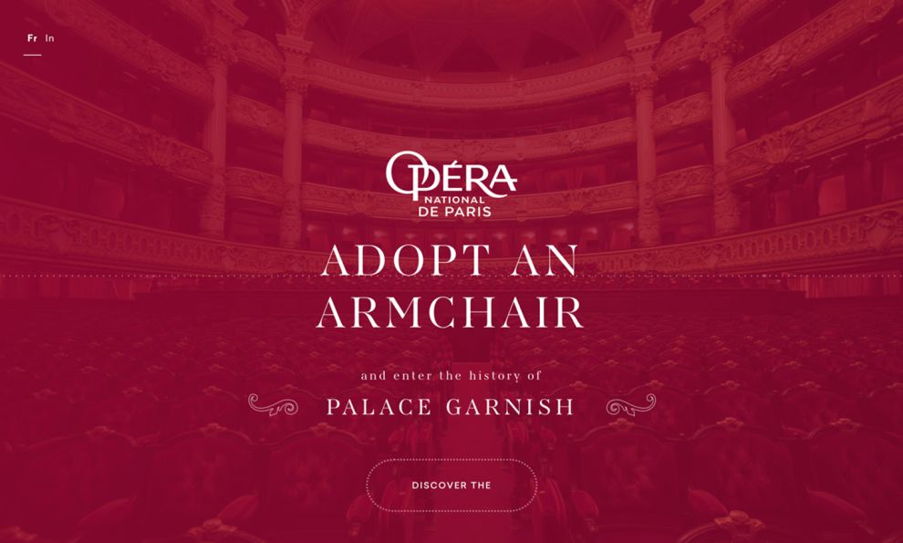 Opera De Paris Adopt a Chair Awesome Homepage