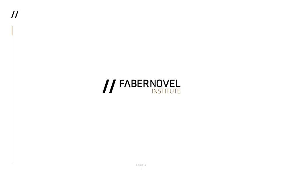 Faber Novel Minimal Homepage